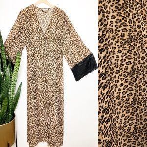 Vintage Animal print maxi robe